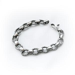 Байкерская атрибутика-Байкерский браслет серебряный, чернение.