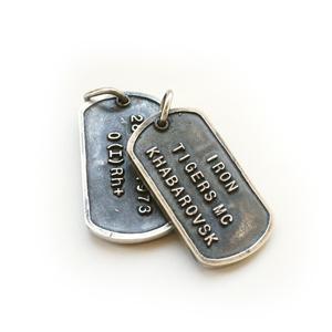 армейский жетон серебряный