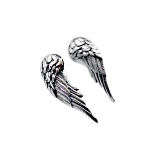 """Серьги серебряные """"крылья ангела"""", чернение. Цена указана пару."""
