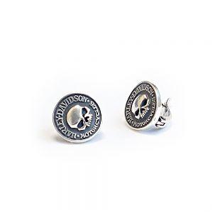 Серьги серебряные Harley-Davidson