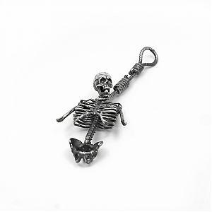 """Подвеска серебряная """"скелет"""", чернение."""