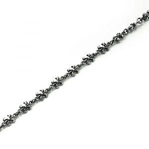 Цепь серебряная королевская лилия, чернение.