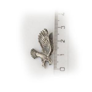 Байкерская атрибутика-Байкерская подвеска серебряная орёл