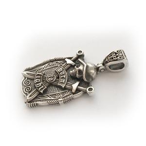 Байкерская атрибутика-Байкерская подвеска серебряная.