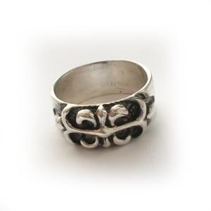 Байкерская атрибутика-Байкерское кольцо серебряное