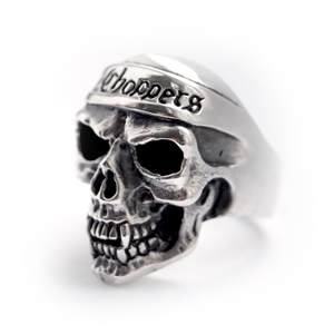 Байкерская атрибутика-Байкерский перстень Кольцо серебряное, чернение.