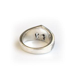 Кольцо серебряное Королевская лилия Франции, чернение.