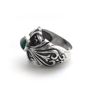 Кольцо серебряное,камень агат, чернение.