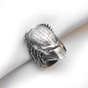 """Кольцо серебряное """"хищник"""", чернение."""