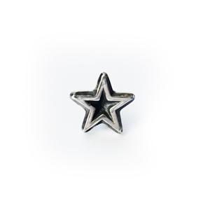 """Серьга серебряная """"звезда"""", чернение."""