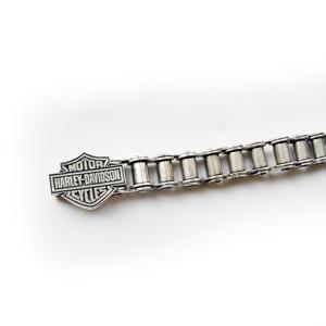 Браслет серебряный Harley-Davidson, чернение.
